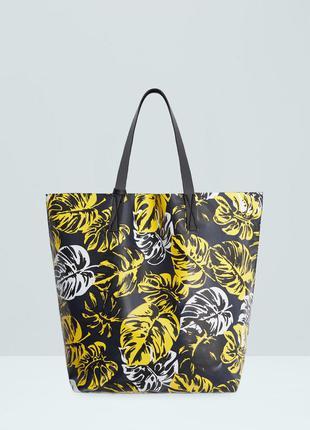 Стильная сумка шоппер с кошельком от mango