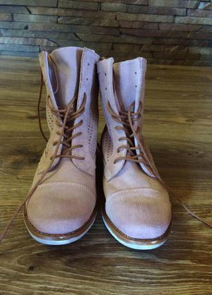Ботиночки catwalk из перфорированной замшевой кожи