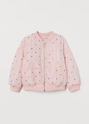Красива курточка бомбер для дівчинки від h&m