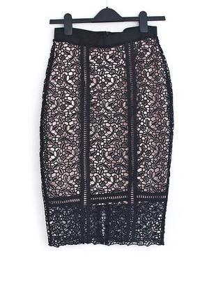 Шикарная кружевная юбка primark • р-р 8\36 (s)