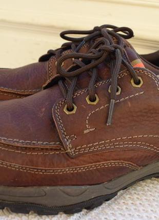 Кожаные туфли мокасины полуботинки m&s active comfort р.45 29.5см