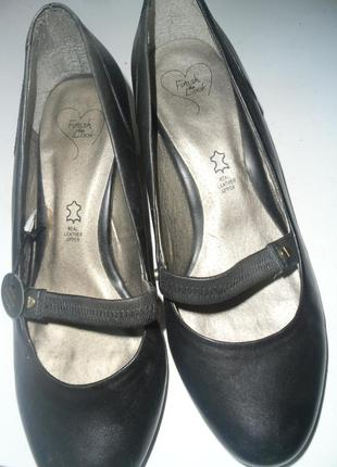 Кожаные туфли finish the look/39/6/широкая ножка