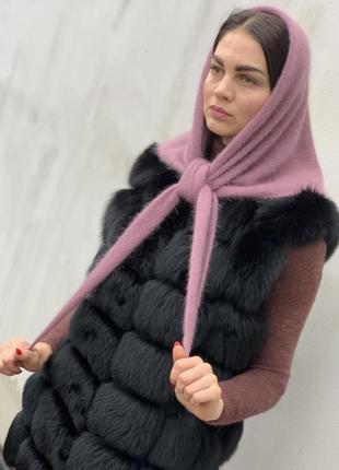 Бактус косынка шарф из ангоры