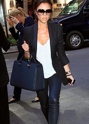 Елегантна чорна сумка victoria beckham handbag оригінал!