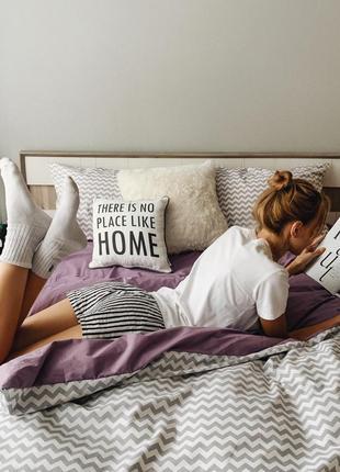Поплин двухцветное постельное белье зигзаг