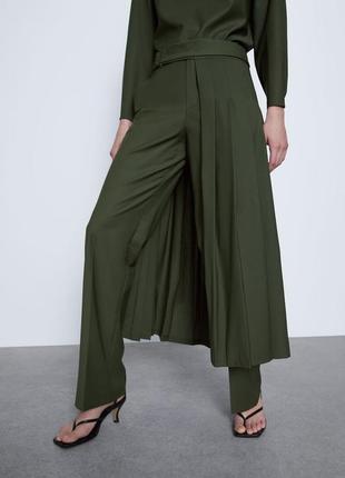 Фирменная юбка на штаны zara, размер s