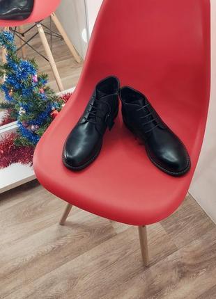 Крутые мужские кожаные  зимнее ботинки туфли 💣