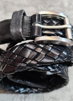Мужской кожаный плетеный пояс ремень canali италия