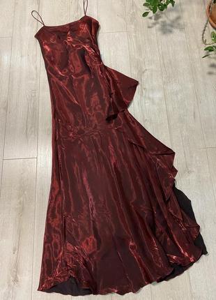 Paris-вечернее платье)👄французское платье цвета марсала-бордо)