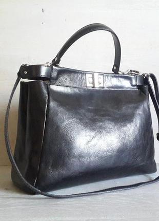 Стильная, кожаная сумка borse in pelle.италия