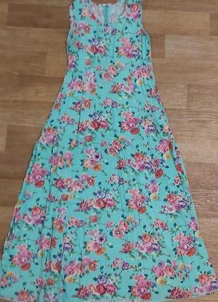 Шикарнейшее длинное платье штапель