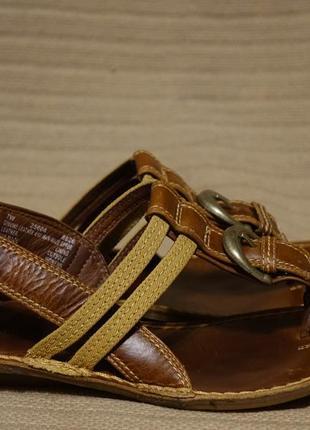 Утонченные комбинированные кожаные босоножки timberland сша. 7 w ( 37 1/2 р.)