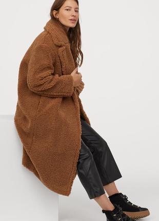 Хит продаж! трендовое тедди пальто шуба оверсайз от бренда h&m в стиле макс мара
