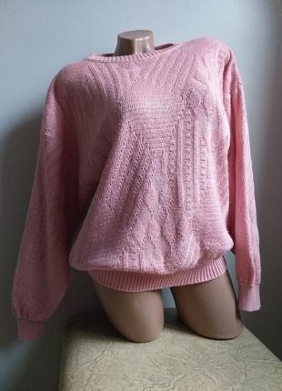 Розовый свитер. джемпер. пуловер.