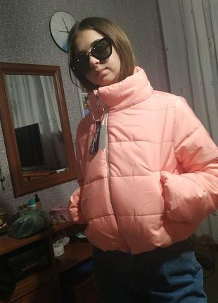 Яркая стильная  2020 куртка  укороченная- xs s m
