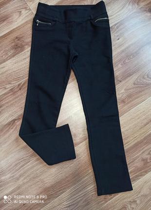 Теплые женские черные штаны лосины