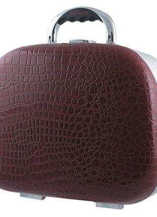 Профессиональный дорожный лаковый чемодан/бьюти кейс профессионала визажиста hairway.