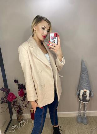 Шерстяное пальто h&m