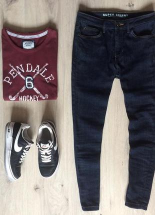 Узкие высокие джинсы скинни marks & spencer