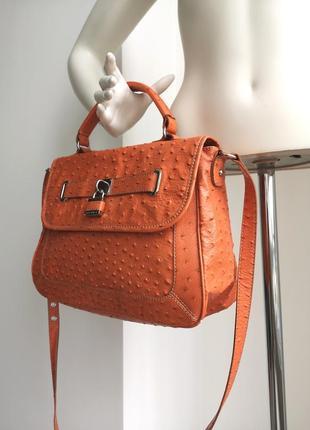 Оранжевая сумка портфель редикюль саквояж nine west