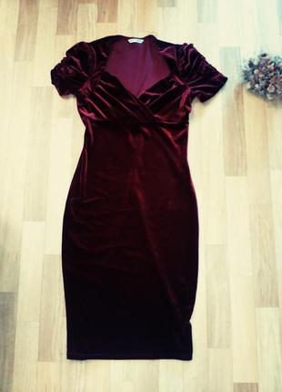 Велюровые платье marks&spencer
