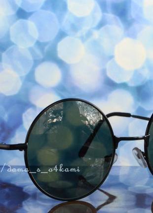 Модные круглые очки, линзы-стекло, новые