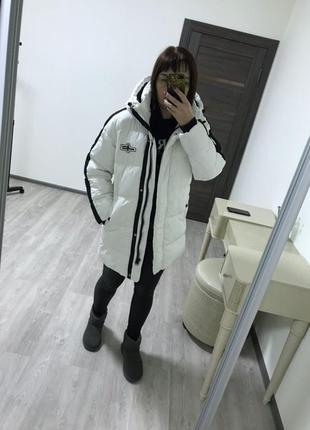 Теплая удлинённая куртка французского бренда jennyfer