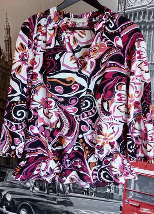 Нереально красива яскрава бавовняна блузка, l-xl