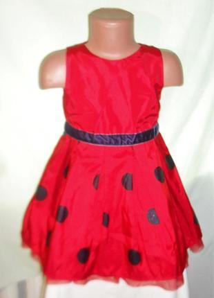 Яркое нарядное платье на 2-3годика рост 98
