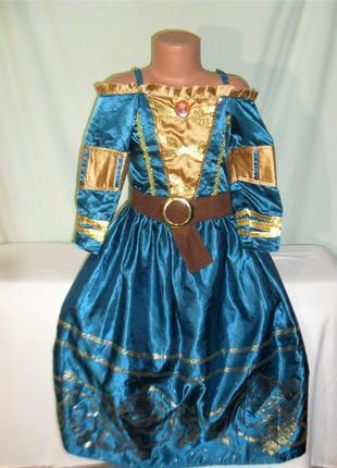 Карнавальное платье из храброе сердце на 7-8лет