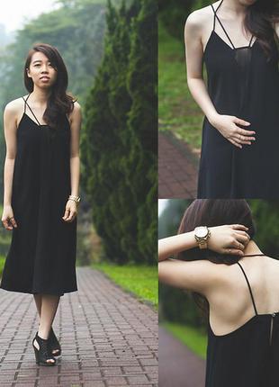 Трендовое миди платье в бельевом стиле от h&m