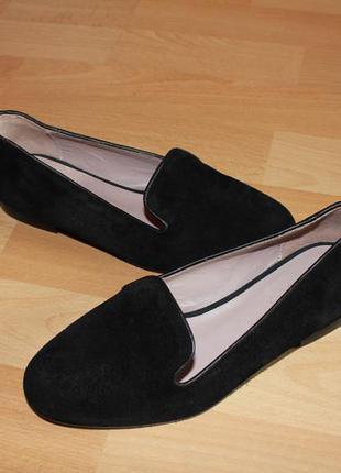 Замшевые туфли oysho 35 размера