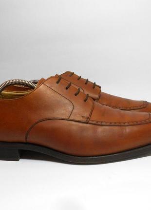 Кожаные мужские туфли mack james, размер 44 - 45