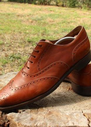 Мужские кожаные туфли броги ralph lauren италия, размер 45