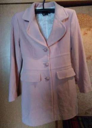 Zara пальто розовое