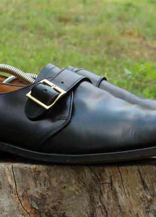 Мужские кожаные туфли / монки jones англия, размер 45