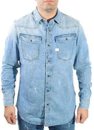 Джинсовая рубашка g-star raw оригинал,  размер xl