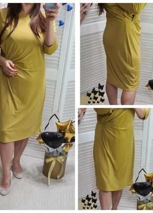 Красивое горчичное платье marks&spencer