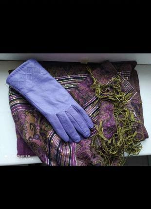 Новые кожанные перчатки шарф б/у самовывоз на бабурке