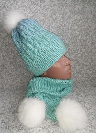 Шапка +шарф