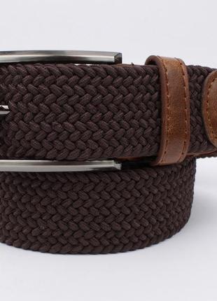 Плетеный ремень резинка alon 4900-103 коричневый, ширина 35 мм