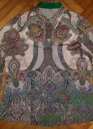 Шикарная шифоновая блуза от erfo! p.-40