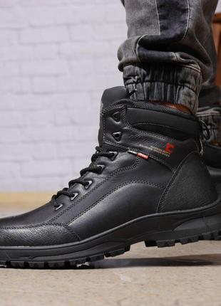 Зимние мужские ботинки 31881 ► gorgeous (на меху, в коробке), черные