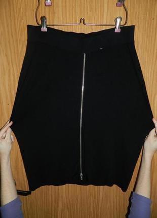 Классная,трикотажной вязки,юбка-карандаш на резинке и молнии,большого размера,bodyflirt