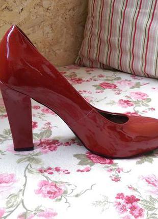 Туфли красные кожа натуральная