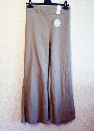Льняные широкие штаны. идеальны на лето!