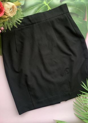 ⚫️классическая чёрная юбка h&m/короткая чёрная юбка/офисная юбка до колена⚫️