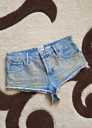 Шорты джинсовые с завышеной талией