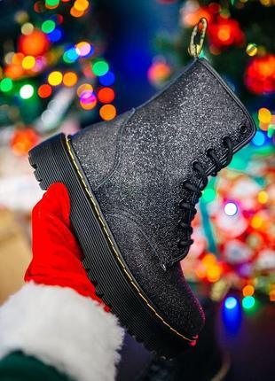 Женские кожаные зимние ботинки dr.martens jadon black черного цвета 😍(на меху)