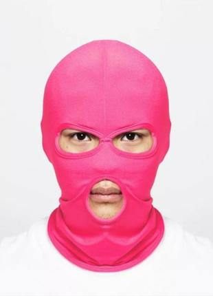 Балаклава маска (бандитка), розовая унисекс